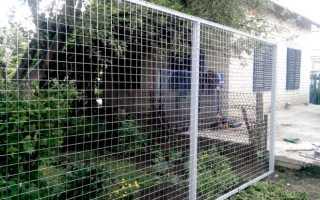 Забор из сетки сварной: оцинкованная, с полимерным покрытием