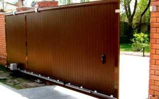 Автоматические откатные ворота: установка и цена