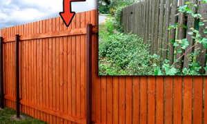 Чем обработать и покрасить деревянный забор от гниения