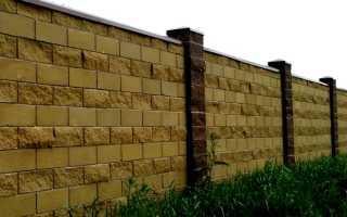 Рваный камень — блоки для забора: своими руками, кладка