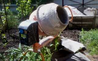 Как очистить (отмыть) бетономешалку от застывшего бетона