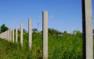 Железобетонные столбы для забора: особенности установки