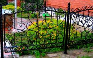 Металлический забор и ограждение для палисадника