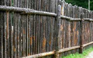Забор частокол из бревен: как сделать его своими руками