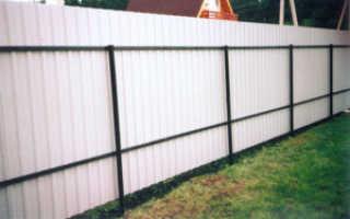Металлический забор из профнастила, установка металлических заборов профнастила своими руками