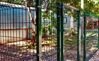 Секционный забор из сварной сетки с полимерным покрытием