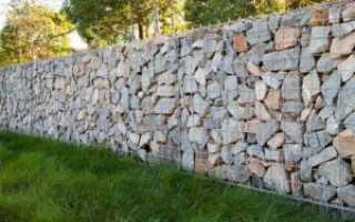 Забор из габионов своими руками, крепление секций — фото и видео