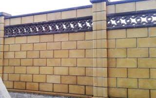 Забор из французского камня: как сделать его своими руками, какие нужны размеры блоков
