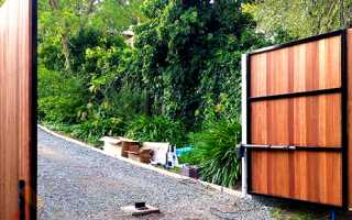 Автоматические ворота на забор: откатные и распашные