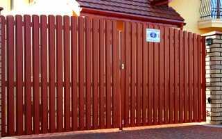 Как сделать ворота и калитку из металлического штакетника