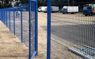 Забор из сварной сетки и профнастила с полимерным покрытием