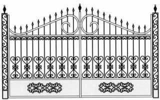Эскизы и фото кованых ворот с калиткой и забором и без них