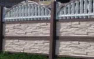 Железобетонные декоративные заборы (ЖБИ), особенности установки