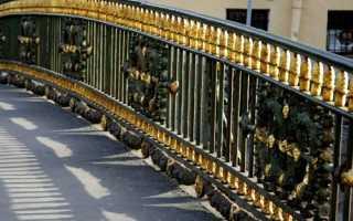 Перильное парапетное ограждение на мостах