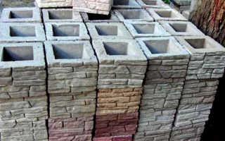 Наборные столбы и блоки для заборов – формы, необходимые для их изготовления