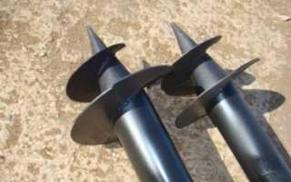 Винтовые сваи (столбы) для забора: установка своими руками