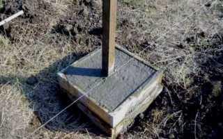 Бетонирование столбов для забора: нужно ли, как правильно