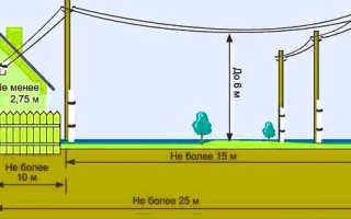 Расстояние от ЛЭП до забора по СНиП: нормы