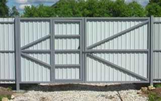 Распашные ворота со встроенной и примыкающей калиткой: как их сделать своими руками