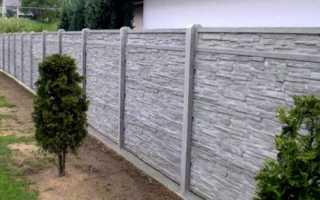 Установка и монтаж забора из бетонных плит