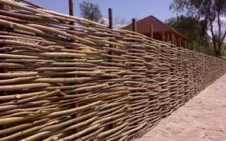 Как сделать забор из лозы своими руками: фото и видео процесса плетения