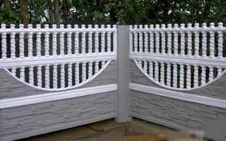 Цементный забор из блоков и плит