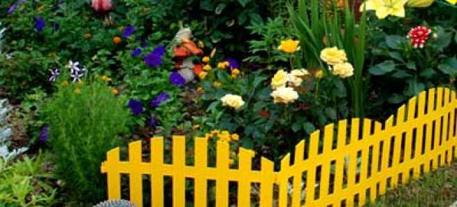 Декоративные заборы и ограждения для цветников: как их сделать своими руками