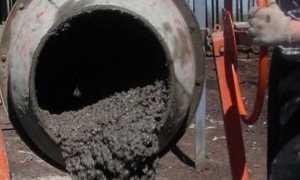 Пропорции и изготовление бетона в бетономешалке для фундамента
