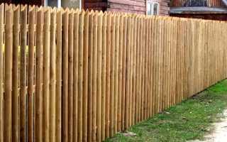 Забор из березовых карандашей: выбор материала и установка