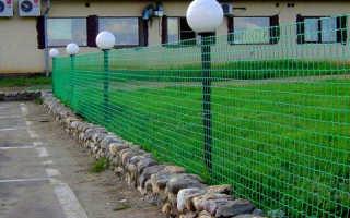 Пластиковая садовая сетка для забора и ограждений