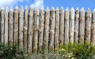 Деревянный забор из бруса: как его сделать своими руками