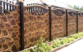 Краски для бетонных заборов: как и чем красить
