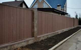 Забор из ДПК: террасной, композитной, полимерной доски