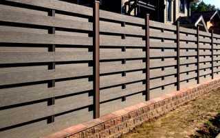 Забор из ДПК (древесно полимерного композита): фото, цены, монтаж и установка