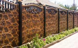 Декоративный бетонный забор своими руками: панели, блоки, секции