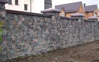 Забор из бутового камня: что такое, виды, своими руками
