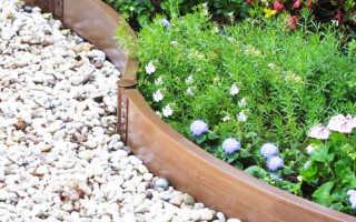 Пластиковые бордюры для садовых дорожек: установки их своими