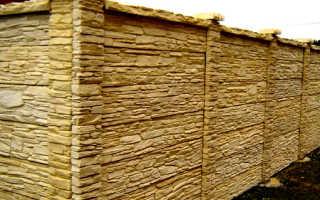 Двухсторонние заборы из профнастила, бетона и дерева