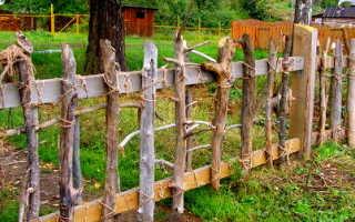 Забор и изгородь из жердей: как сделать его своими руками