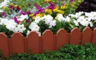 Как сделать декоративный заборчик для сада своими руками: фото и видео