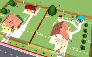 На каком расстоянии от соседского забора строить туалет: нормы