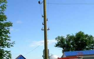 Электрические деревянные и железобетонные столбы для дач: цена установки на участке