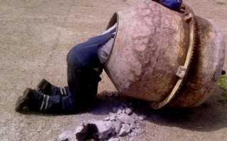 Ремонт бетономешалки: меняем подшипник, шестеренку, барабан
