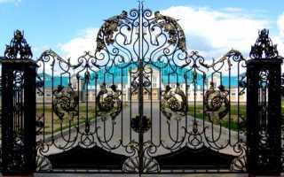 Художественная ковка ворот и калиток: эскизы, фото и цена