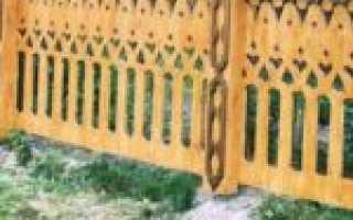 Резной забор из дерева своими руками: шаблоны, фото и трафареты