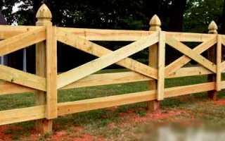 Деревянный забор в стиле ранчо: как его сделать своими руками
