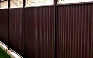Модульные заборы и ограждения из профнастила и металлической сетки