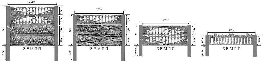Как установить забор из декоративного железобетона?