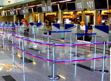 ограждения в аэропорту