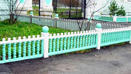 палисадник бетонный забор